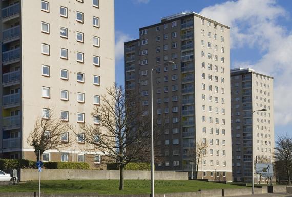 Block of high rise flats